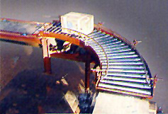 90' Bend Gravity Roller Conveyor